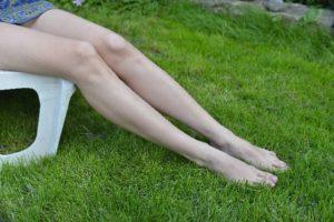 歪みのない綺麗な足